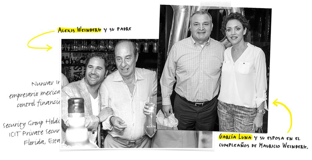 García Luna en cumpleaños de Mauricio Weinberg